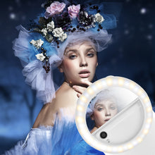 POWSTRO Rechargeable LED self-timer ring light for the Iphone to supplement the lighting night for the iPhone 5 6s Samsung