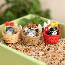 1pcs!!!! New Arrival!!  Cartoon Cat Micro Landscape Garden Decorations Lucky Cats Miniature Craft Home Decor Random Color