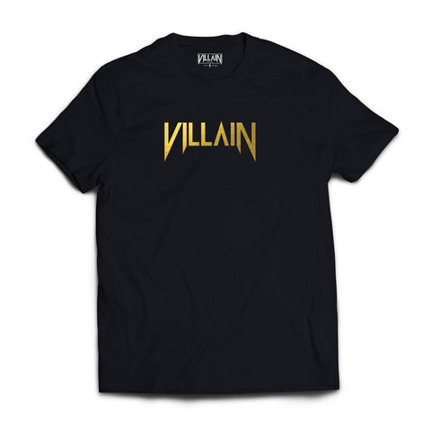 Short Sleeve T-Shirt - Gold Villain Logo