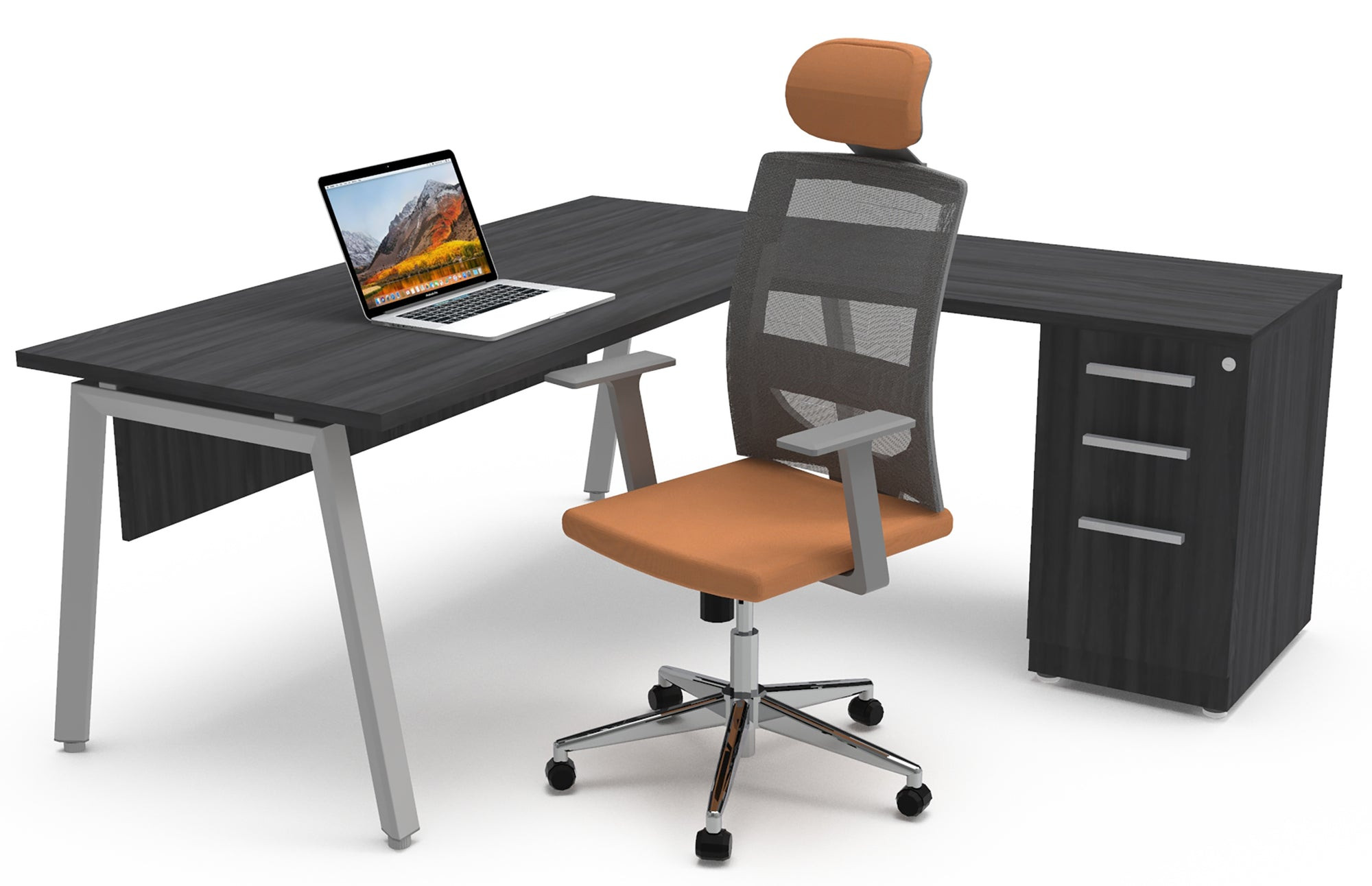 Escritorio Semi Ejecutivo Tech Alpha