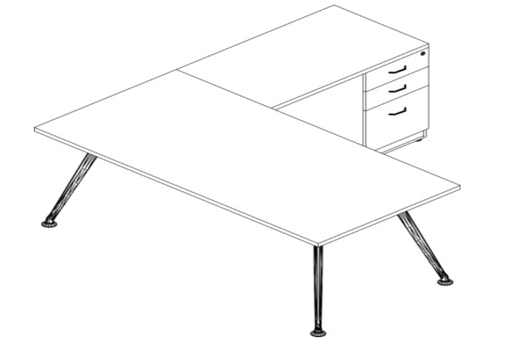 Escritorio Semi Ejecutivo Z Chrome