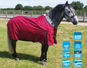 Turnout rug + separate neck cover