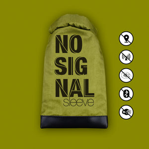 No Signal Sleeve - 100% Radiation Free Phone Case - GREEN