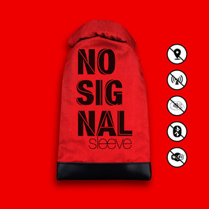No Signal Sleeve - 100% Radiation Free Phone Case - RED