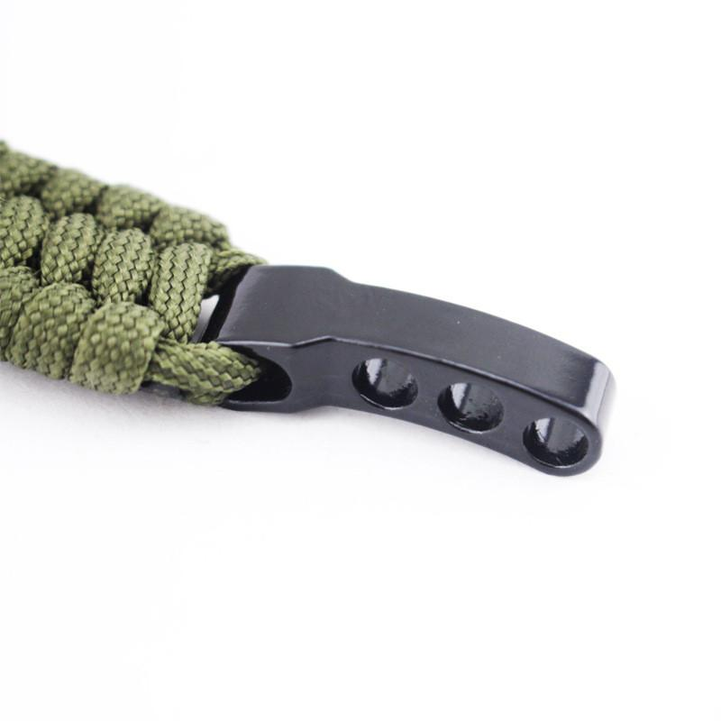 EDC Survival Tool Paracord Survival Bracelet with Adjustable D Shackle Wilderness Survival Emergency Tools - 4 Colors