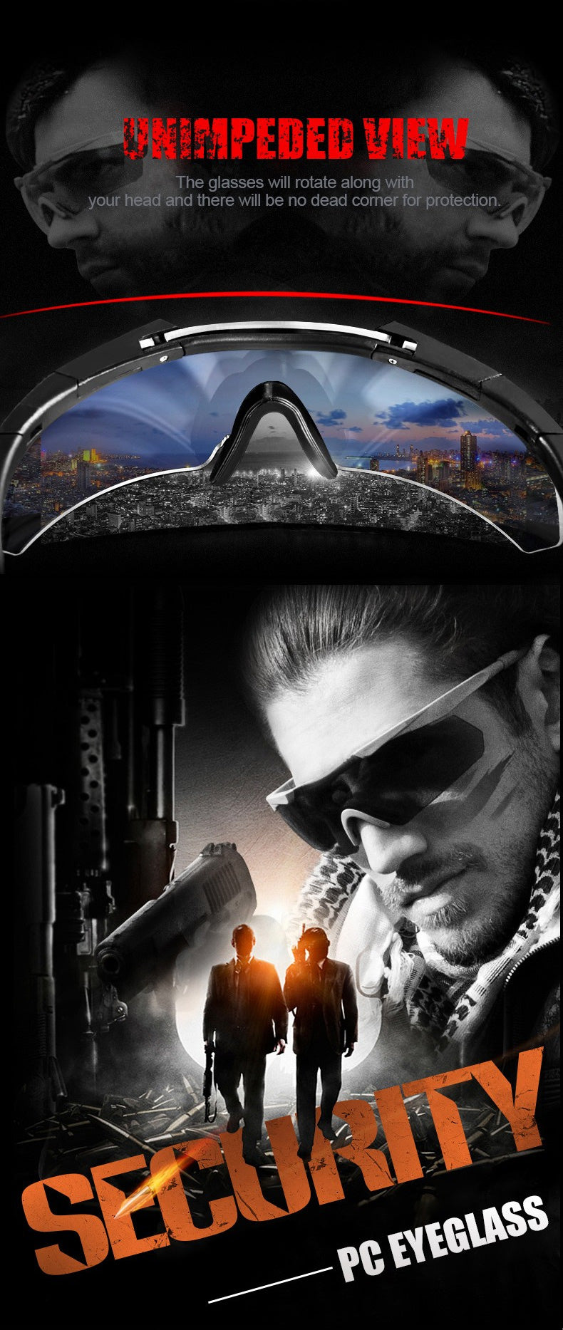 Eagle-Eye Tactical Goggles For Men Bullet Resistant Sunglasses For Outdoor Pursuits
