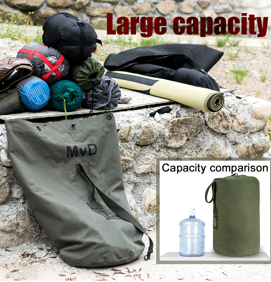 Large Capacity 100L Tactical Stuffsack Kit Bag Backpack Collapsible Bag Holdall For Travel Hiking Camping