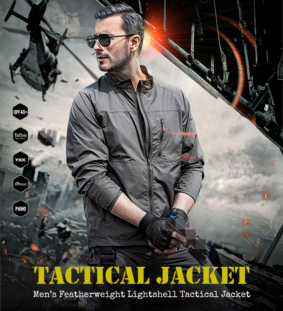 Men's Ultra-Lightweight Breathable Foldable Tactical Jacket - 2 Colors