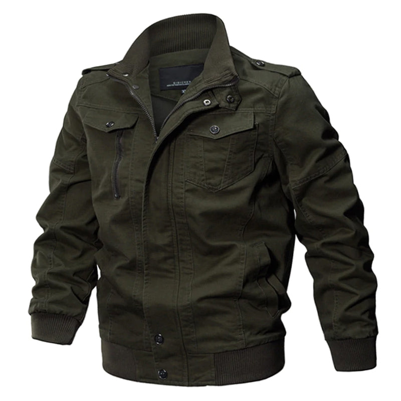 Men's Classic Style Military Tactical Pilot Jacket Winter Autumn Cotton Jacket Casual Army Style Cargo Coat Air Force - 3 Colors