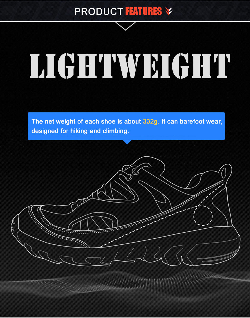 Men's Lightweight Tactical Military Sports Shoes Hiking Trekking Climbing All Purpose Leather Tactical Sneakers Shoes For Men