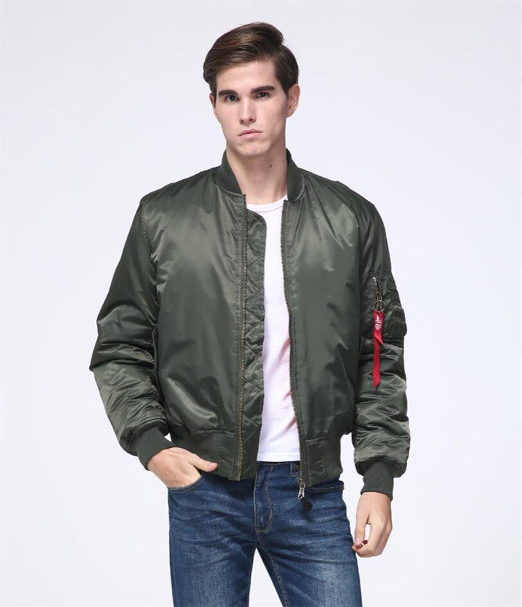 Men's MA-1 Pilot Bomber Jacket US Air Force Flight Jacket Men Padded Winter Waterproof Nylon Plus Size Bomber Jacket - 4 Colors