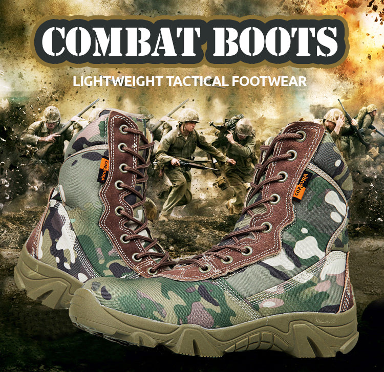 Men's Military Tactical Camouflage Lightweight Combat Boots
