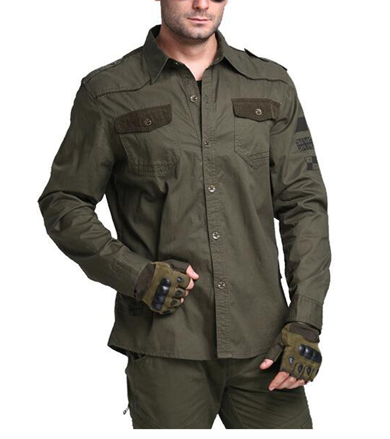 eda8c1565628 Men's Military Tactical Shirt Army Style Long Sleeve Cotton Shirt Tactical  Clothing For Men - Available