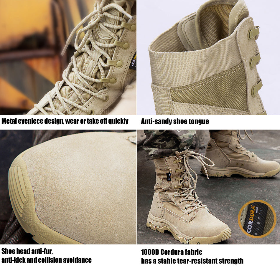 Men\u0027s Tactical Military Style Army Combat Boots Lightweight Breathable  Boots For Outdoor Sports, Hiking, Travel, Expedition