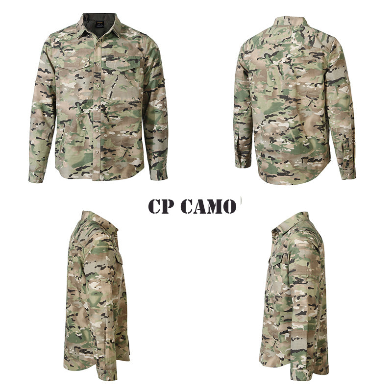 Men's Quick Drying Long Sleeve Military Tactical Shirt - Army Green