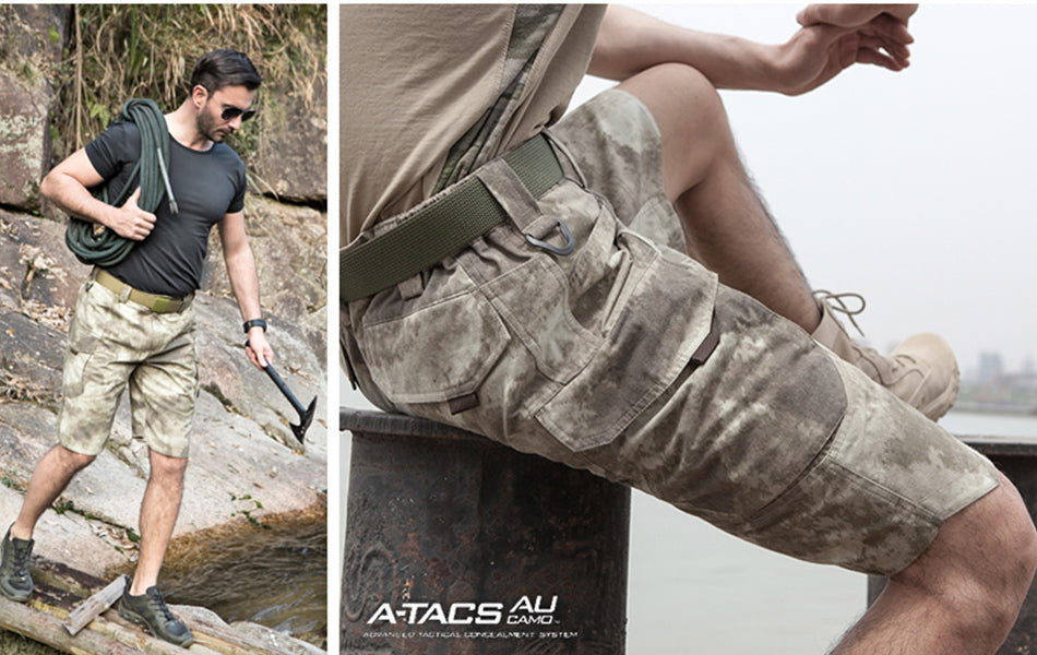 Men's Tactical Camo Cargo Pants, Breathable and Durable For Outdoor Pursuits, Travel, Hiking, Trekking - A-TACS-AU Camo