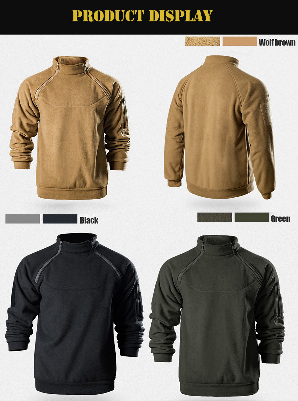 Men's Tactical Fleece Ergonomic Windproof Sweatshirt Top
