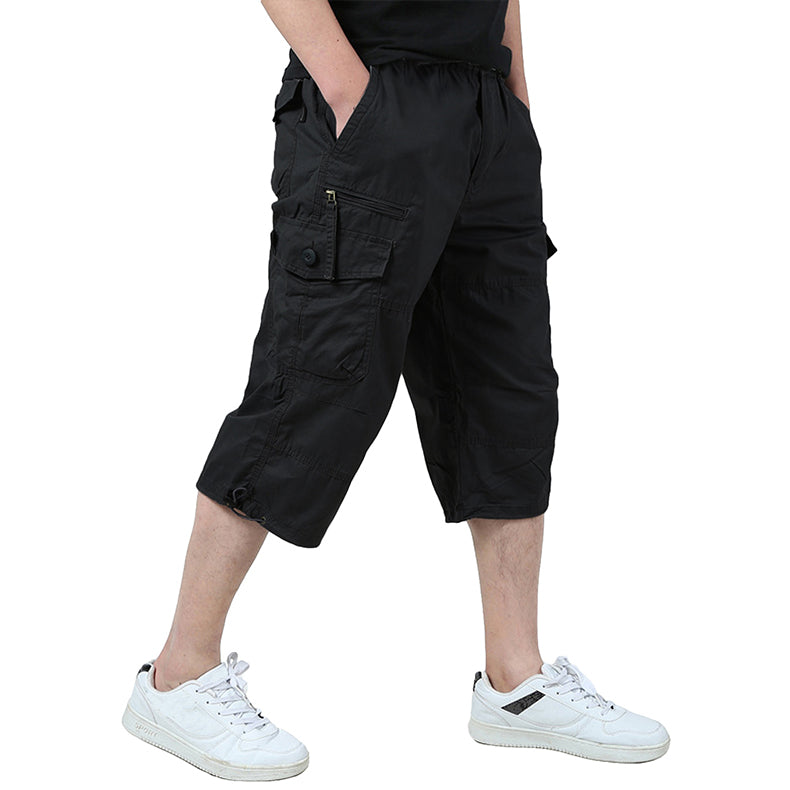 Men's Tactical Shorts Summer Military Cargo Shorts Plus Size Tactical Clothing Casual Wear Army Capri Shorts - 4 Colors
