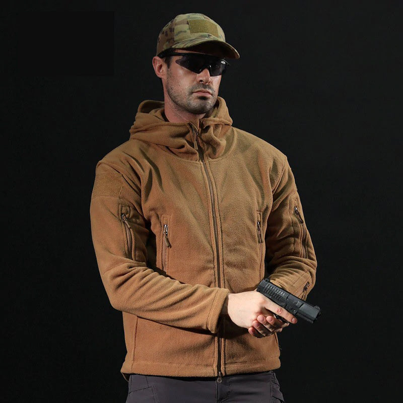 Men's Tactical Winter Fleece Jacket For Outdoor Activities Warm Hiking Trekking Fleece Casual Sportswear For Men - 4 Colors