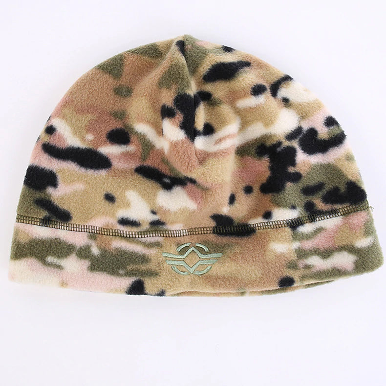 Men's Tactical Winter Hat Knitted Thermal Fleece Beanies Men's Military Camouflage Tactical Headwear Winter Hats for Men - 5 Colors