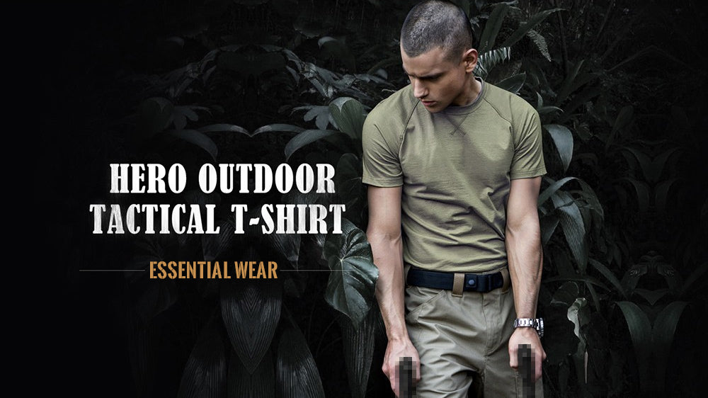 Mens Tactical Breathable Short-Sleeve Military T-Shirt Base Layer - 5 Colors