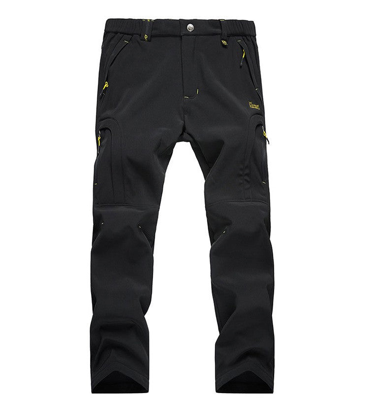 Men's Winter Softshell Hiking Pants Waterproof Windproof Outdoor Trousers