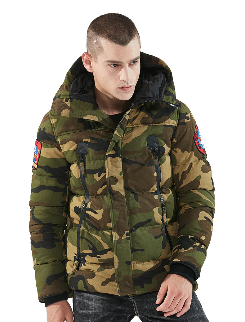 Military Tactical Camouflage Jacket Jacket US Army Navy Thermal Outwear Thick Padded Jacket With Hood Military Style Parkas - 2 Camo Colors