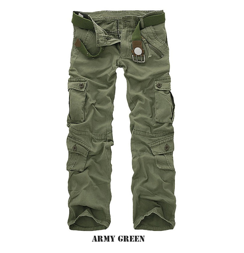 Military Tactical Hiking Combat Cargo Pants For Men Multi Pockets - Army Green