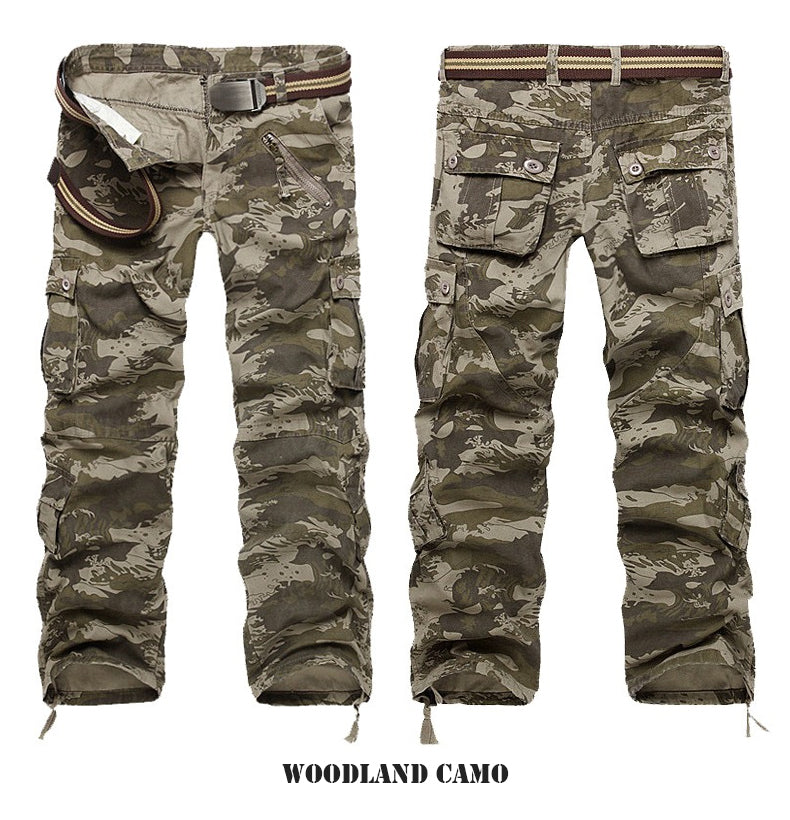 Military Tactical Hiking Combat Cargo Pants For Men Multi Pockets - 7 Colors