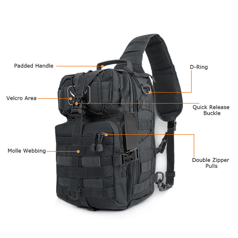 Military Tactical MOLLE Backpack Assault Pack Army Waterproof Shoulder Bag Sling Pack Small Rucksack for Outdoor Hiking Camping Hunting