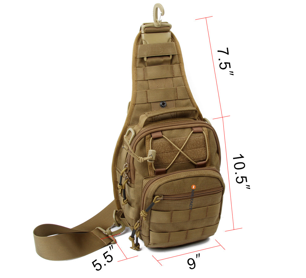 Military Tactical MOLLE Sports Sling Bag Multi-Purpose Backpack - 4 Colors