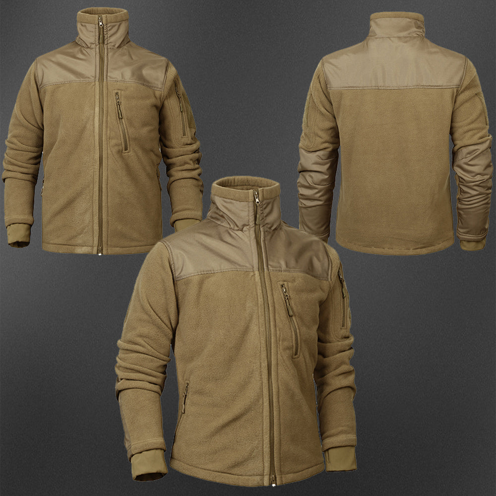 Military Tactical Men's Windproof Fleece Jacket - Khaki