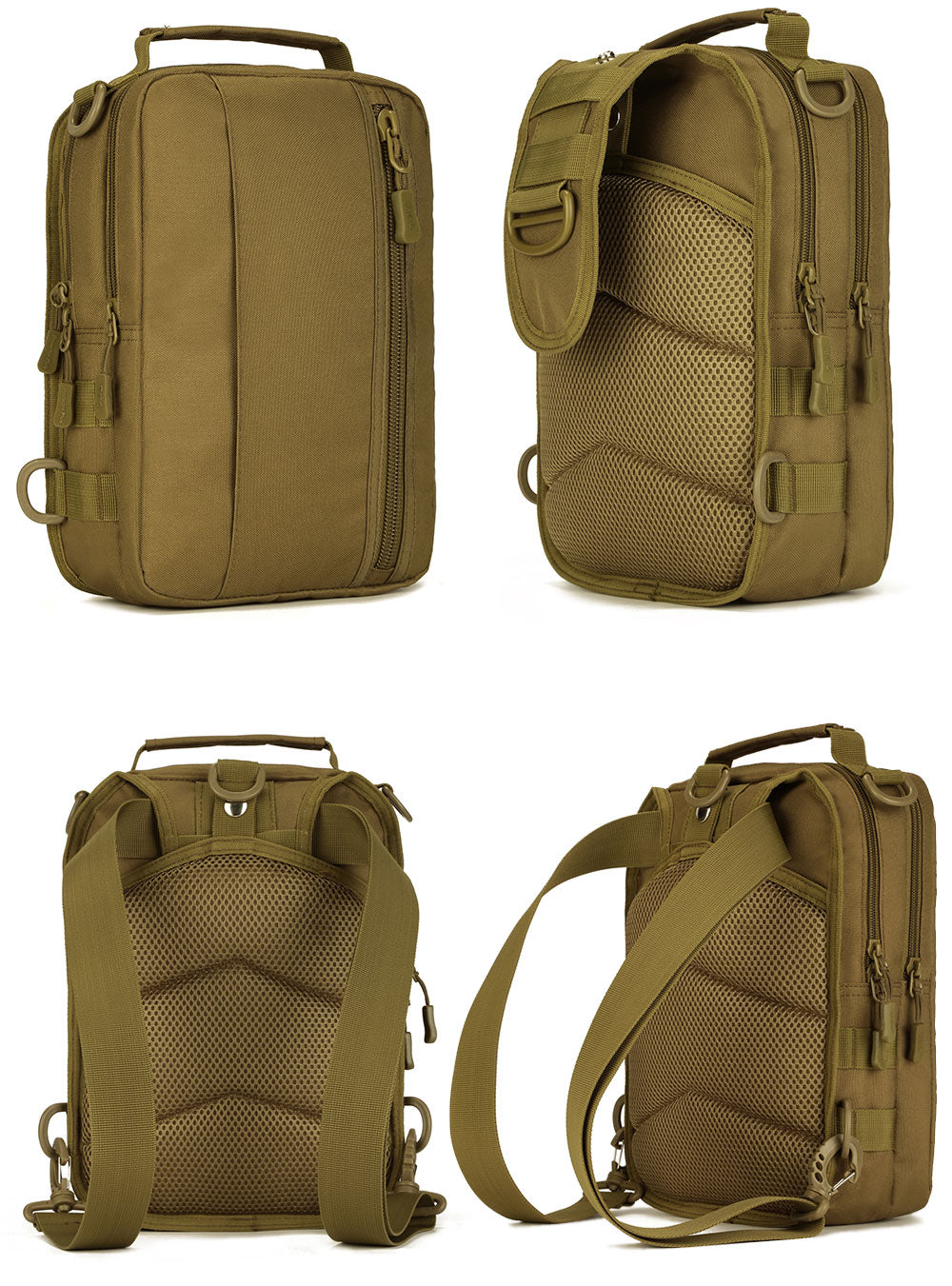 "Military Tactical Multi-Functional MOLLE Messenger Bag Backpack Crossbody Shoulder Bag Handbag Fits 10"" Tablet"
