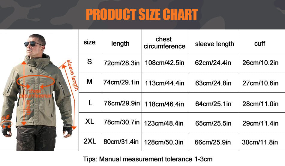 Military Tactical Technical Lightweight Winter Jacket For Men Weatherproof Breathable Hooded