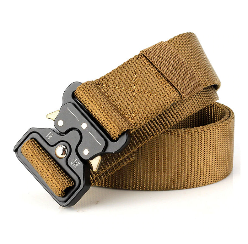 Military Tactical Waist Belt Quick Dry Nylon Webbing US Soldier Belt For Combat Games Paintball Army Outdoor Hiking Belt Nylon Waistband - 3 Colors