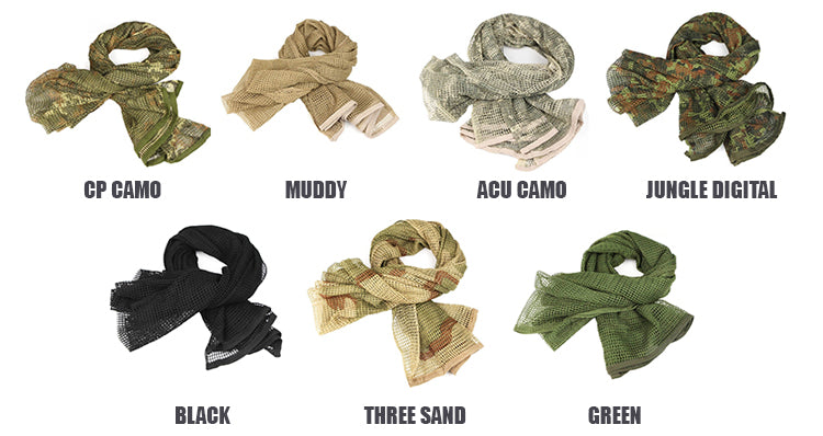 Military Tactical Windproof Multi-Purpose Head Scarf - 5 Colors