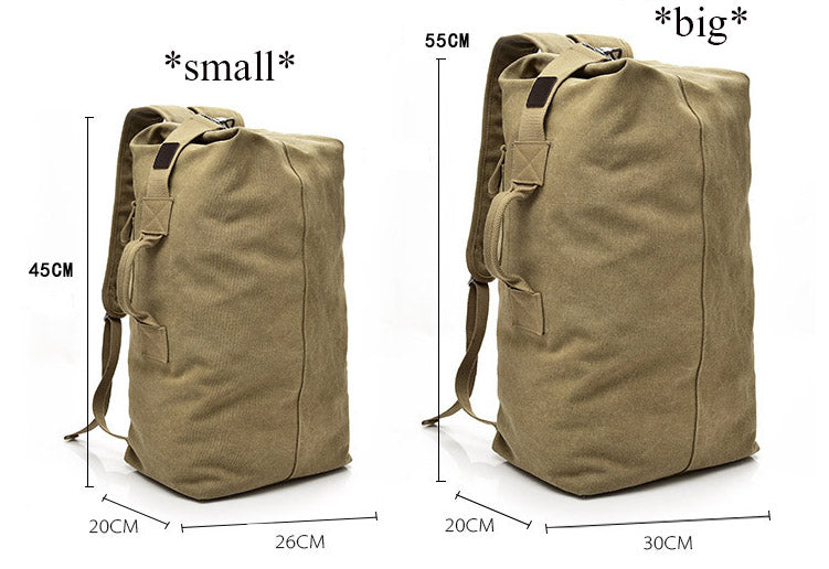 Multifunctional Military Tactical Canvas Kit Bag Army Duffle Bag Travel  Rucksack - Army Green 71cd43502a5
