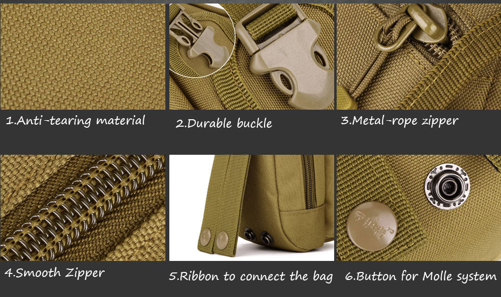 New MOLLE System Accessory Pouch Tactical EDC Carry Bag Backpack Attachment Army Travel Hiking Tactical Pouch - 7 Colors