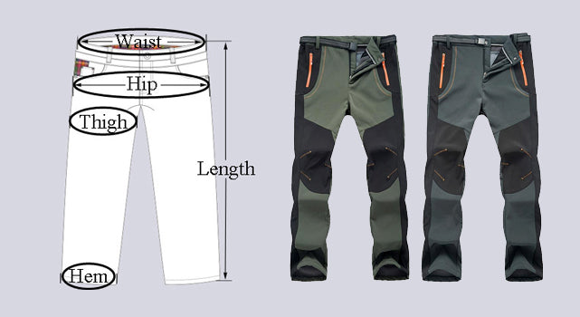 Softshell Thermal Hiking Pants Trousers Waterproof Windproof For Men/Women