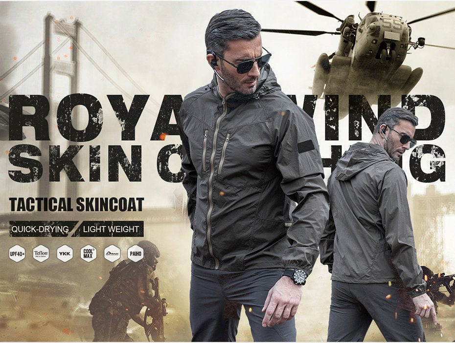 Super Lightweight Breathable Quick Dry Technical Tactical Skincoat Jacket