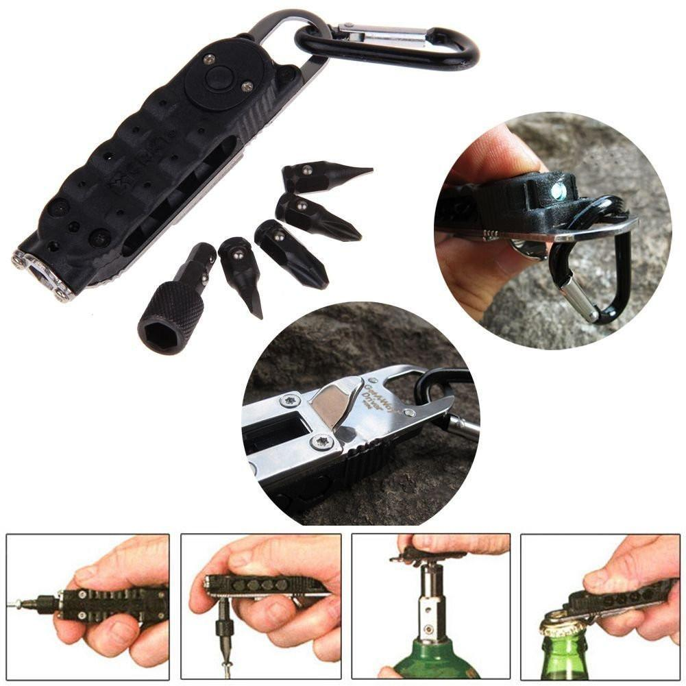 Survival Multi-Tool Pocket Sized Tool With LED Light Multi-Tool Tactical Survival Tools For Hiking Camping Outdoor EDC Tools