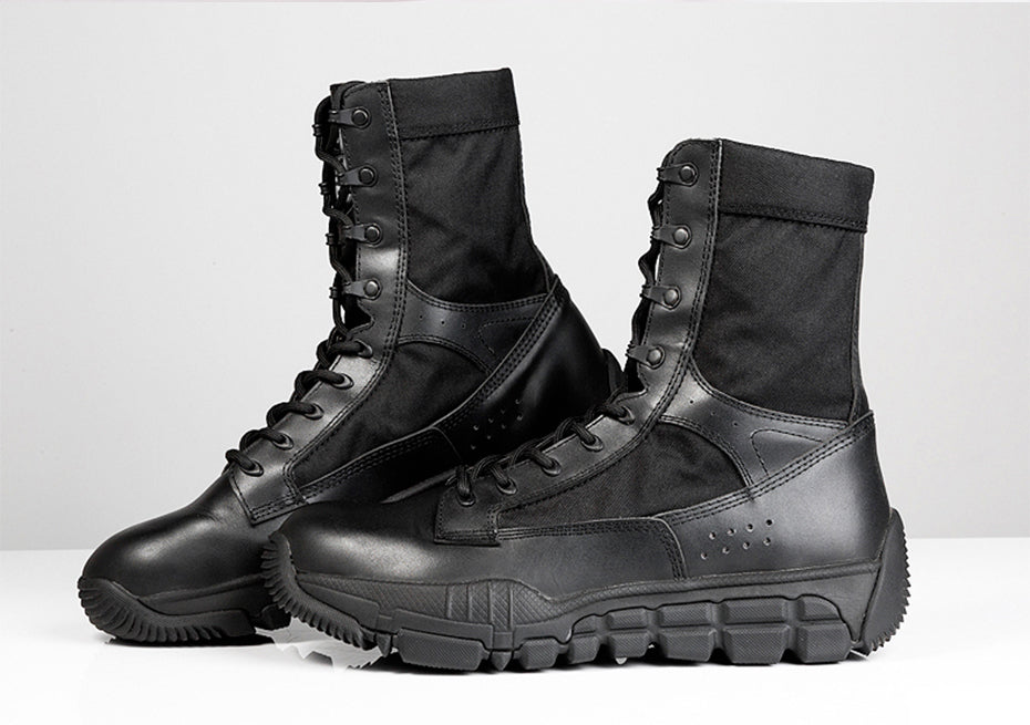 Tactical All Terrain Combat Boots For Men Multi Purpose Footwear - Black