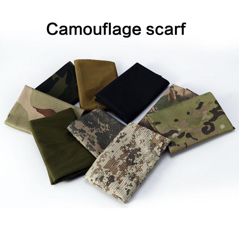 Tactical Camo Scarf Mesh Net Infinity Scarf For War Games, Airsoft, Military Tactical & Outdoor Activities - 6 Colors