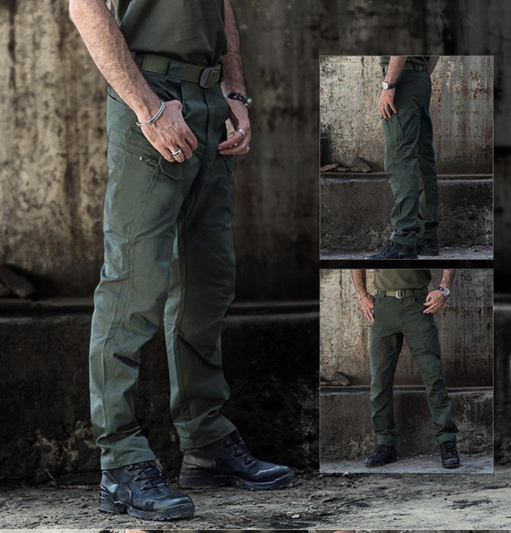 Tactical Camouflage Combat Cargo Pants Military Casual Wear Water Repellent Ripstop Men's 5XL Trousers - 9 Colors