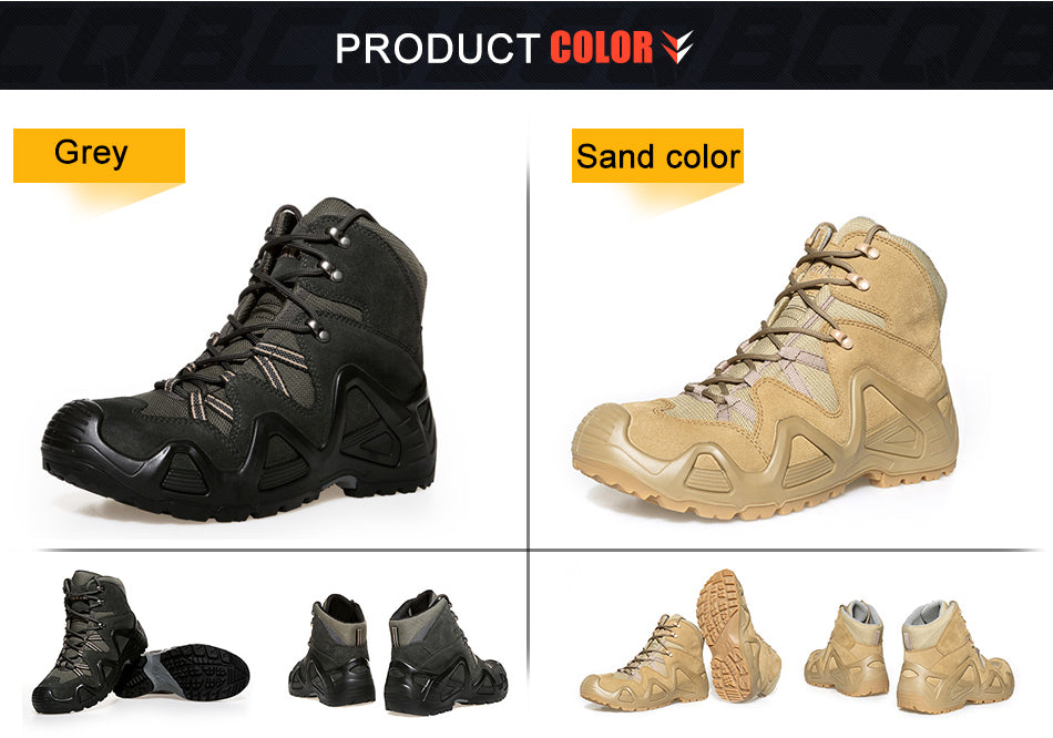 Tactical Combat Boots For Men Wear-Resistant Cordura Non-slip Large Size All Terrain Mountain Climbing Trekking Shoes for Hiking