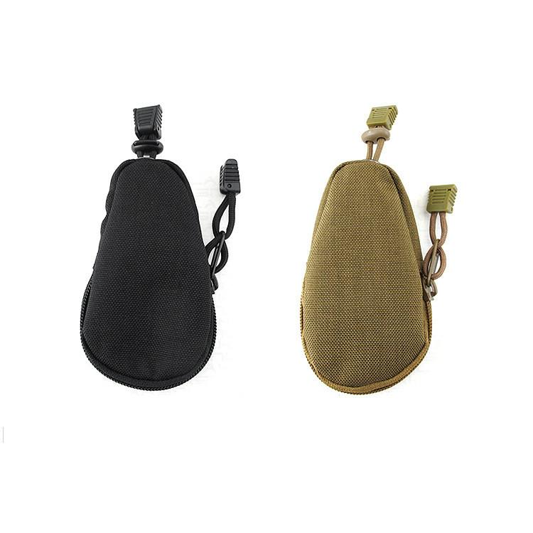 Tactical EDC Every Day Carry Mini-Pouch Carrying Bag Portable Travel Coins Purse - Black or Khaki