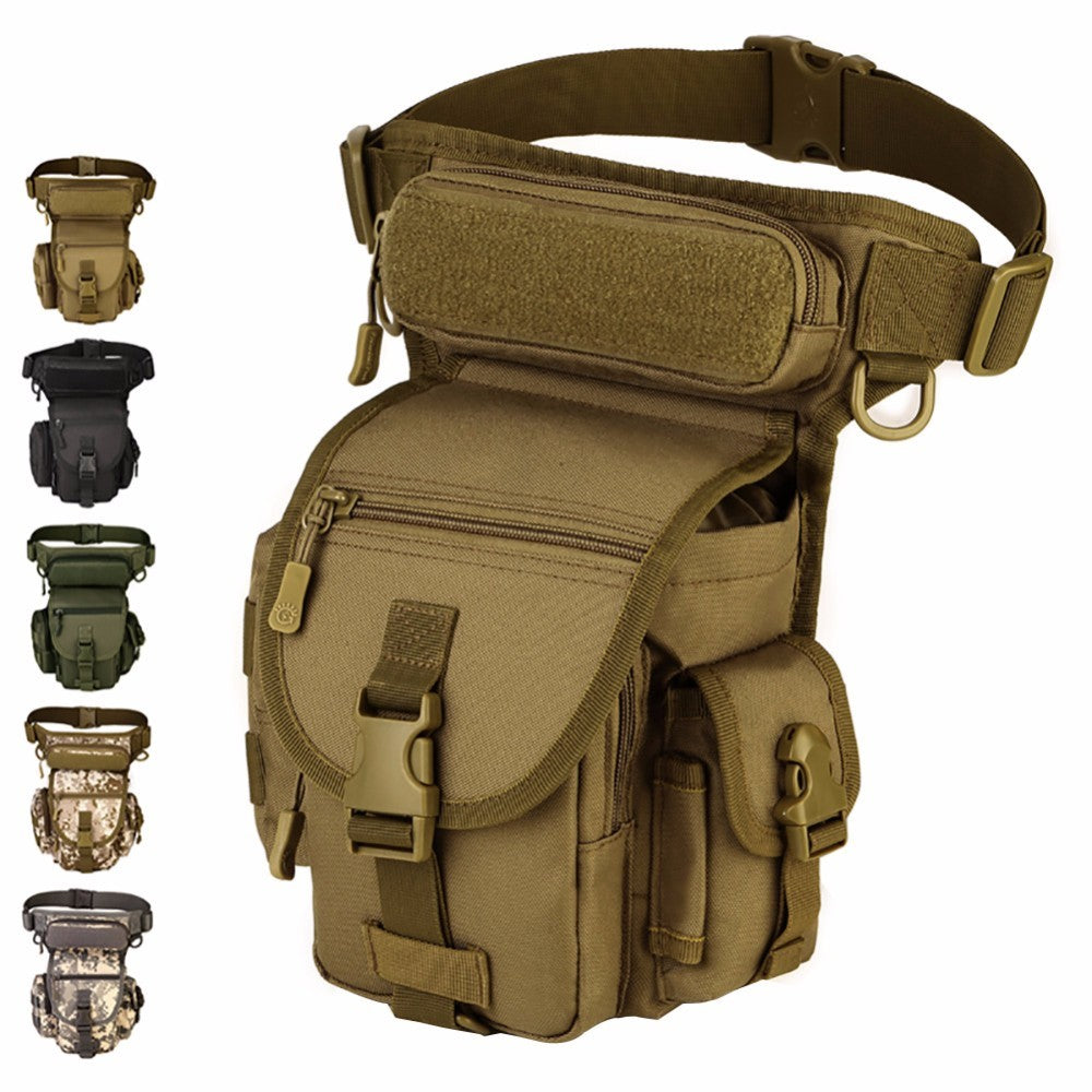 Tactical EDC Waist Belt Pack Waterproof Nylon Travel Bag Running Pack Motorcycle Rider Thigh Pack Waist Belt Pack