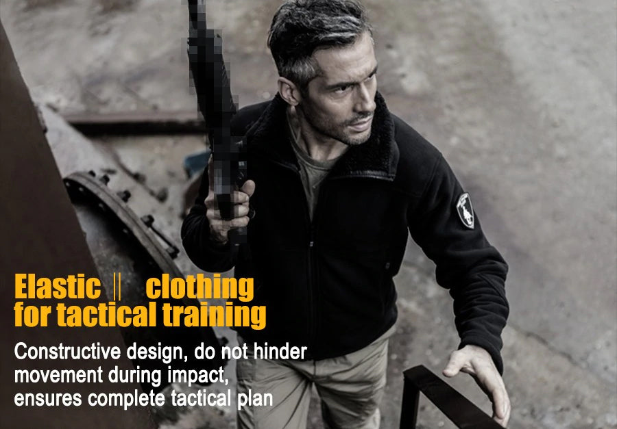 Tactical Fleece Jacket For Men All Purpose Thermal Fleece Outer Layer For  Urban Outdoor Activities - 3 Colors