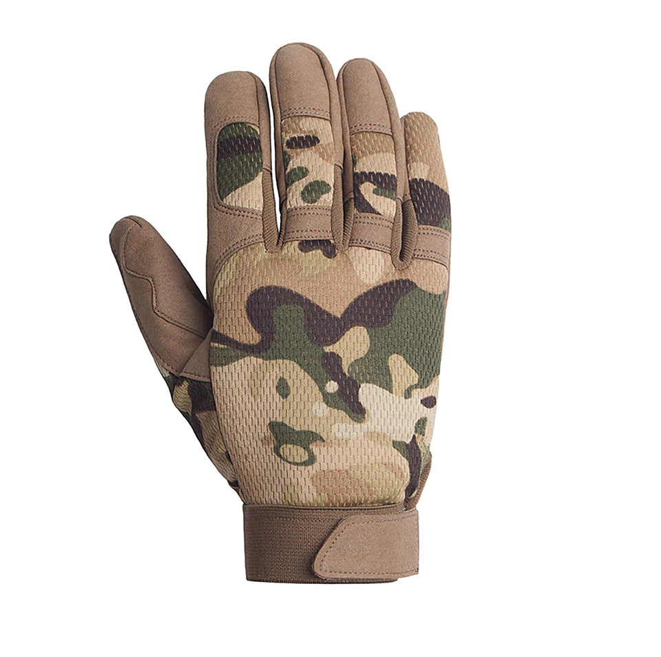 Tactical Gloves Multicam Full Finger Gloves Anti-slip Army Military Hunting Airsoft Paintball Camouflage Armor Gloves - 9 Colors