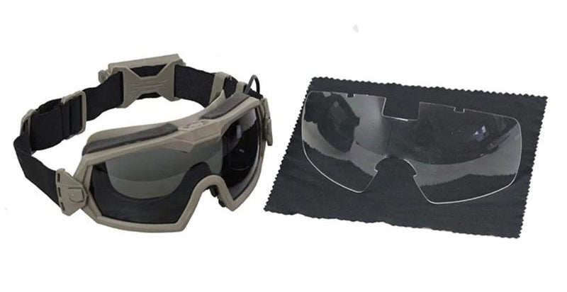Tactical Goggles With Regulator Fan Safety Eye Protection For Airsoft Paintball Skiing Extreme Sports Combat Games Protective Glasses Eyewear - 2 Colors